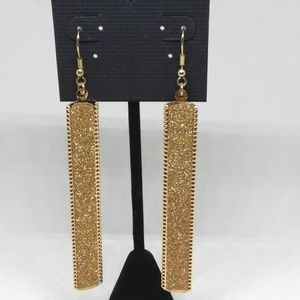 Drop Earrings Gold-plated Gold Sparkle Dangle 1285